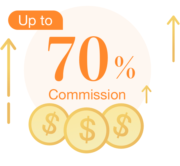 Up to 70% Commission