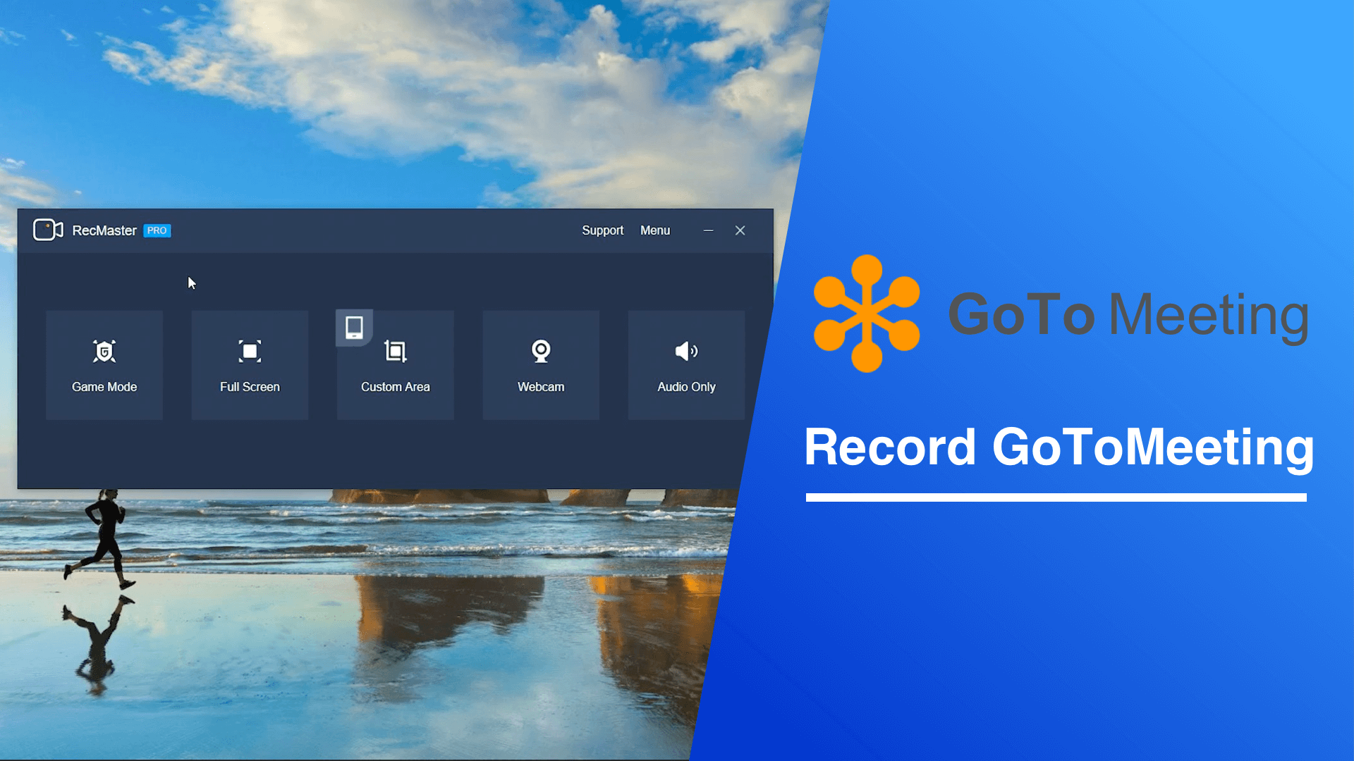 How does RecMaster record meeting from GoToMeeting