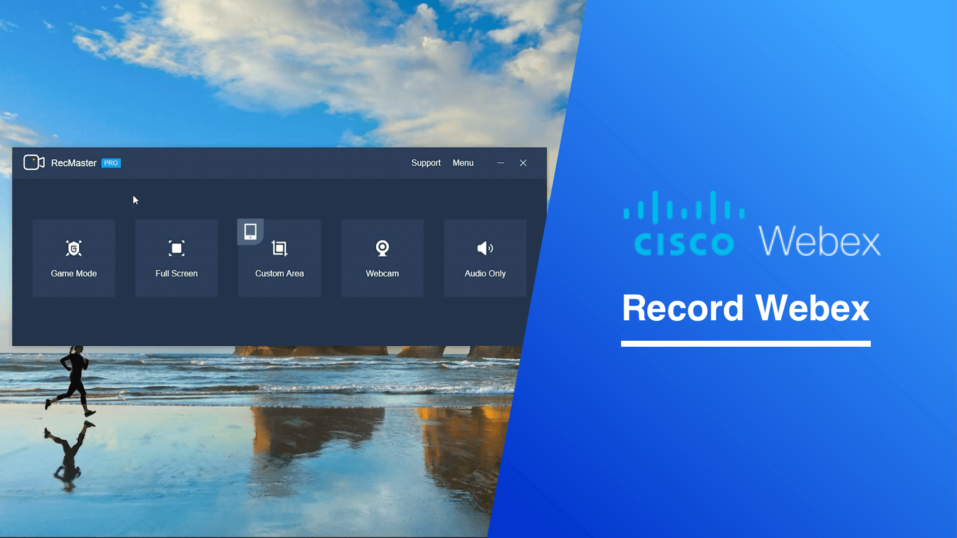 How does RecMaster record from Cisco Webex