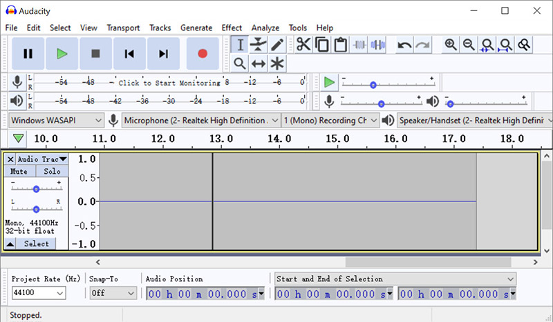 Audacity Record Internal Audio