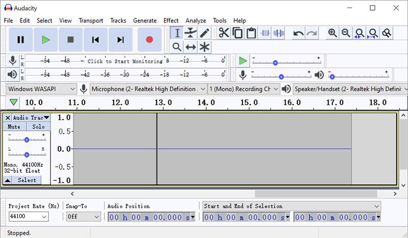 Audacity Records Audio on Computer