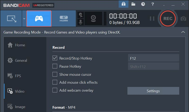 Game Video Recorder for Windows - Bandicam