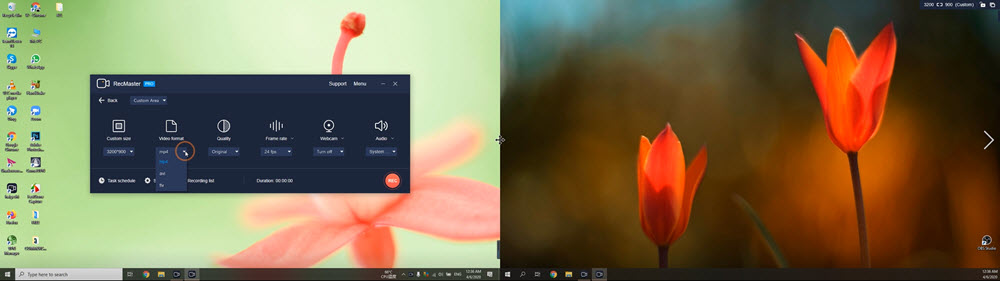 Record two monitors simutaneously