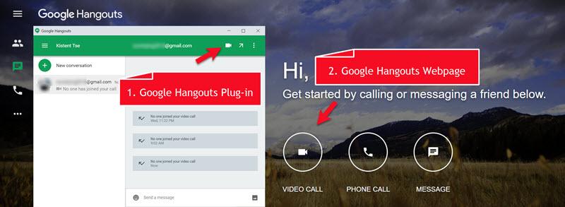 Start Google Hangouts Call