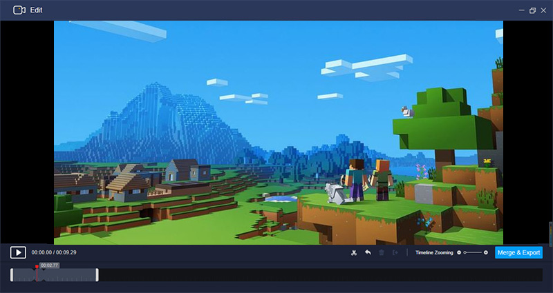 Edit Windows 10 gameplay recording with RecMaster