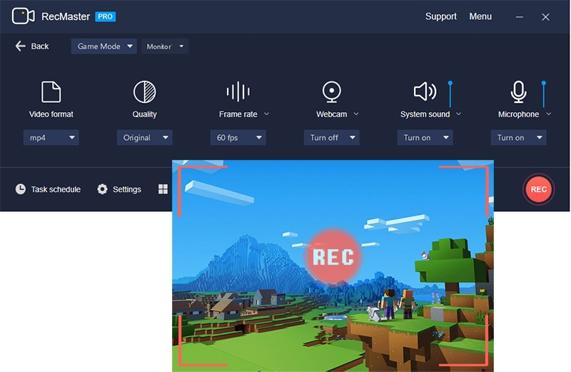 Windows 10 Game Recording Software - RecMaster