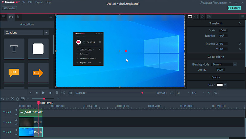 FILMORA SCREEN VIDEO EDITOR