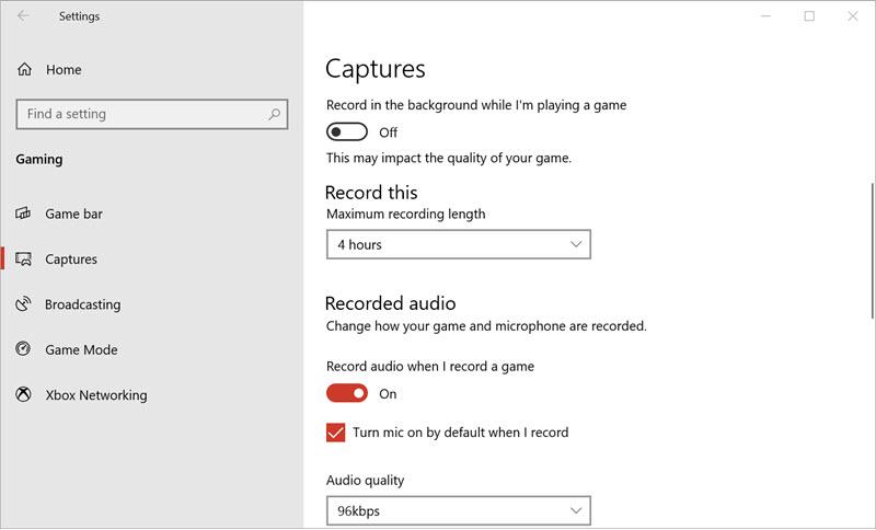 Game Bar for Windows 10