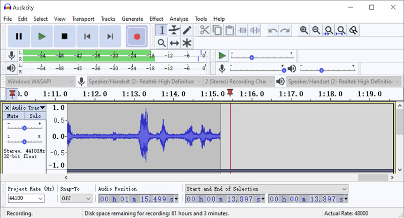 How to Record Audio on Windows 10 with Audacity