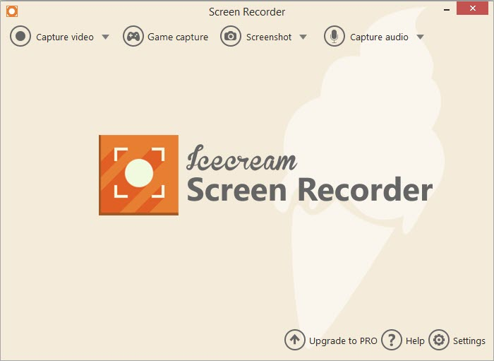 Icecream Screen Recorder UI