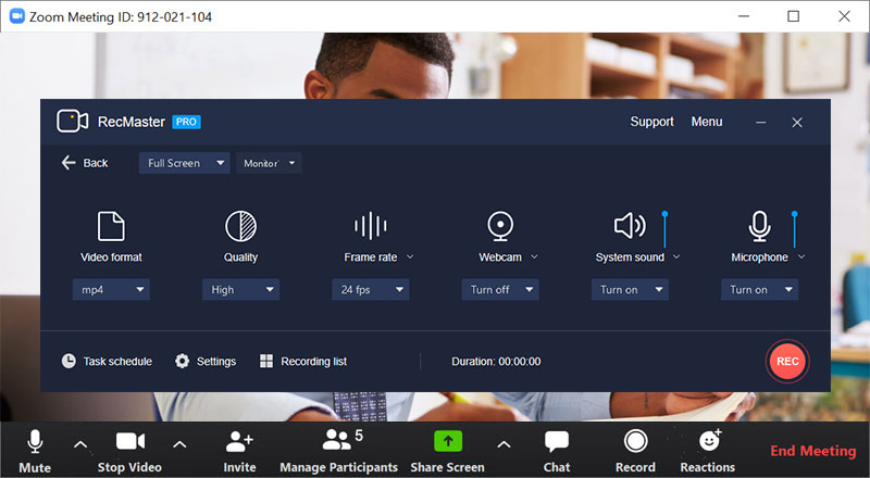 How to Record Online Meeting with RecMaster 2
