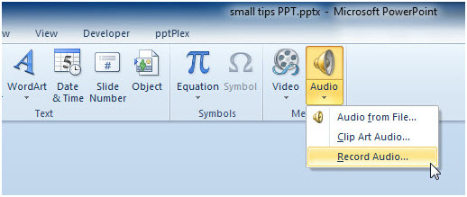 How PowerPoint Records Presentantion with Audio 1