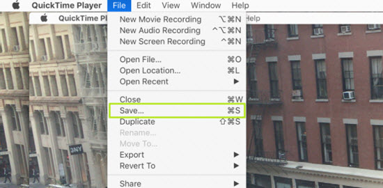 Save screen recording on MacBook