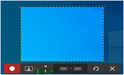 Select Recording Region with Snagit