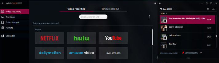 Audials record hulu streaming