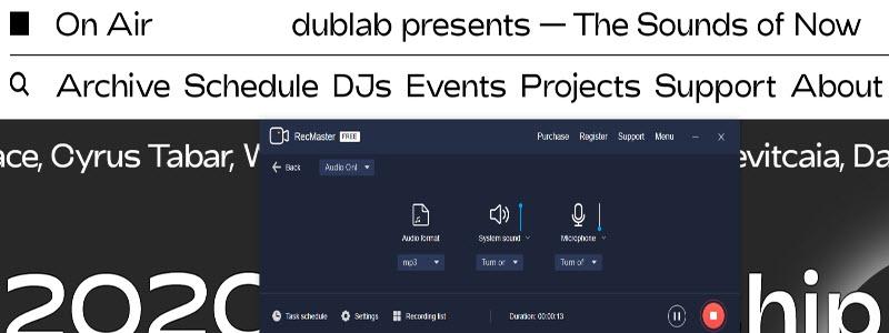 Record Dublab radio