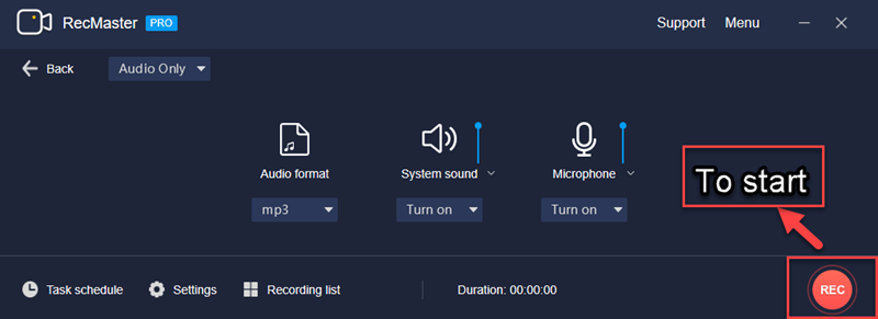 Record Discord Audio with RecMaster  - Start