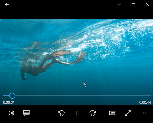 Recording default media player on Windows 10