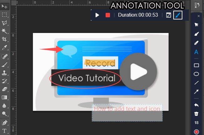 Annotation tool of RecMaster