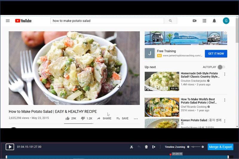 RecMaster Edits Streaming Videos on YouTube