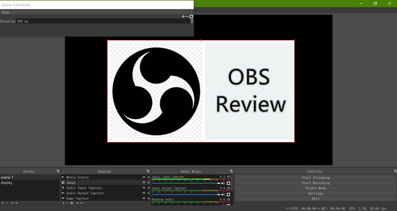 OBS Review - Main Interface