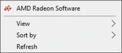 Open AMD Radeon Software on Desktop