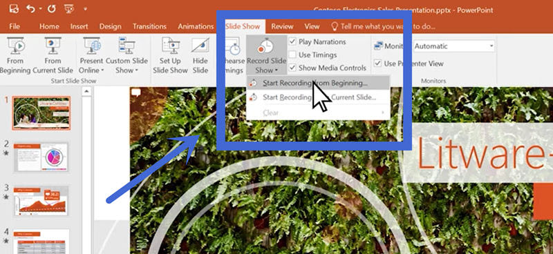 Use Microsoft PowerPoint Built-in Recorder to Record PPT