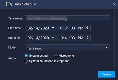 scheduled recording