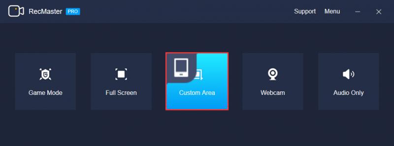 Windows Custom-Area Mode Interface