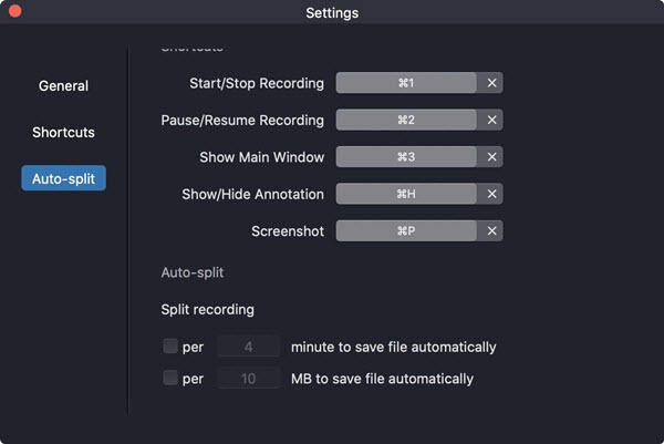 Auto-split Feature of RecMaster for Mac