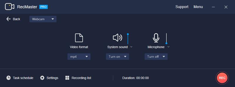 Webcam Mode Settings