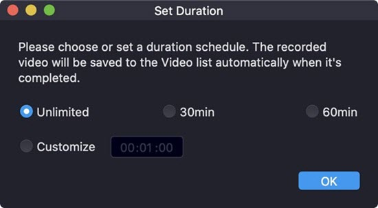 Set a Duration Schedule on Mac
