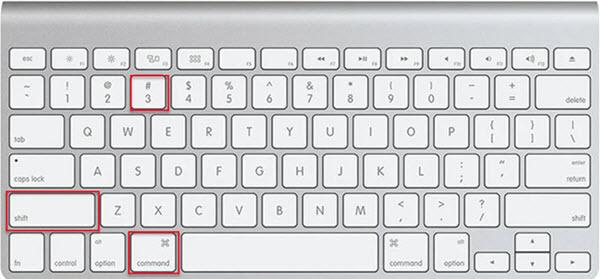 Take a screenshot of the full screen on Mac