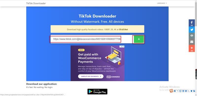 Paste your TikTok link