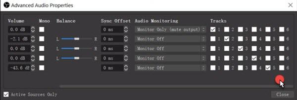Mix multiple audio tracks