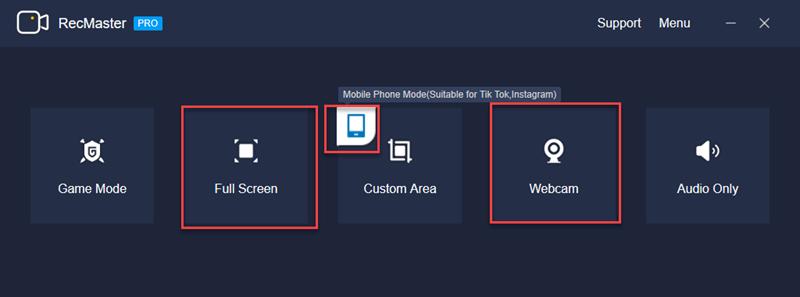main interface of RecMaster