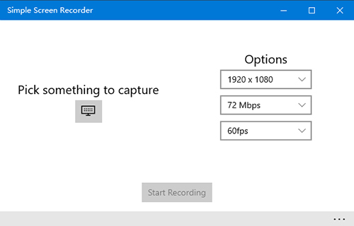 Simple Screen Recorder for Windows 10 PC