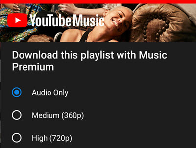 YouTube Premium Download Music from YouTube