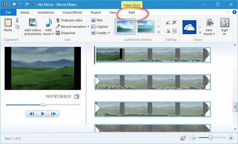 Windows Movie Maker Video Editor