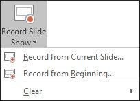 Record Slide Show Option