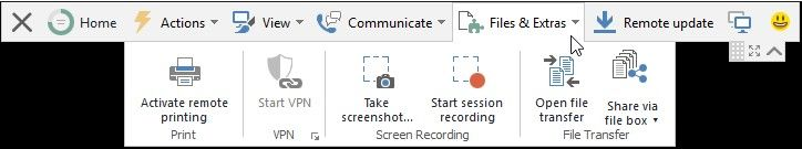 find recording function in teamviewer
