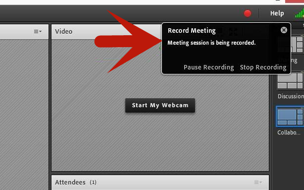 Stop Recording Adobe Connect Meeting