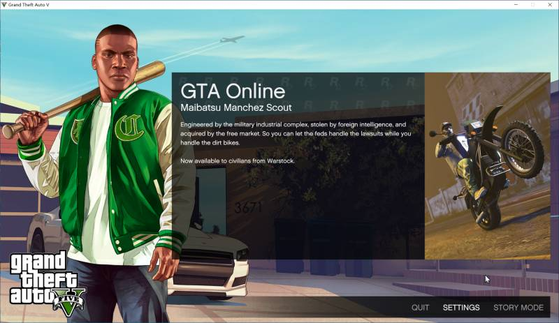 launch the game - grand theft auto v