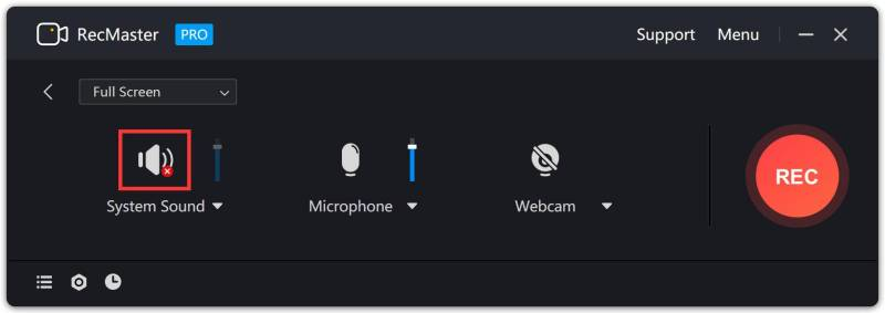 system sound - How to Enable Speakers for RecMaster?