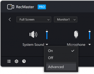 Go to RecMaster Speakers Settings