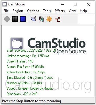 Best Free Desktop Recorder CamStudio
