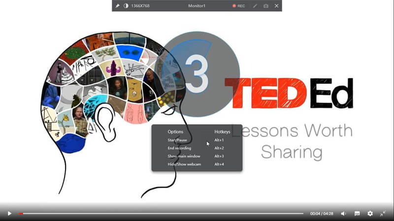 How to Record TED Videos step4