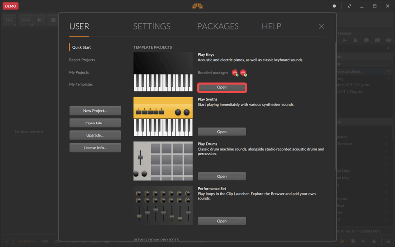 Record the Sound and Screen of Bitwig step1