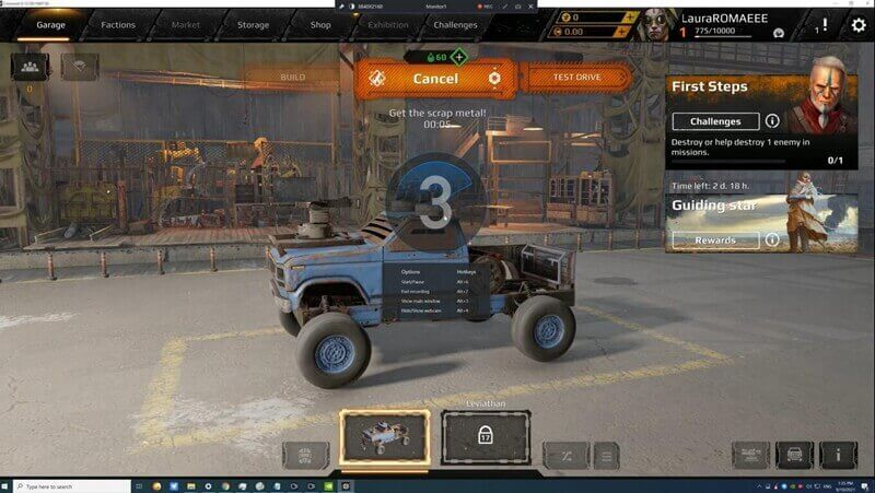 Record Crossout Gameplay step4