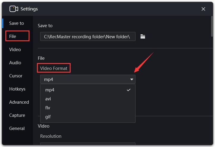 video format tip1